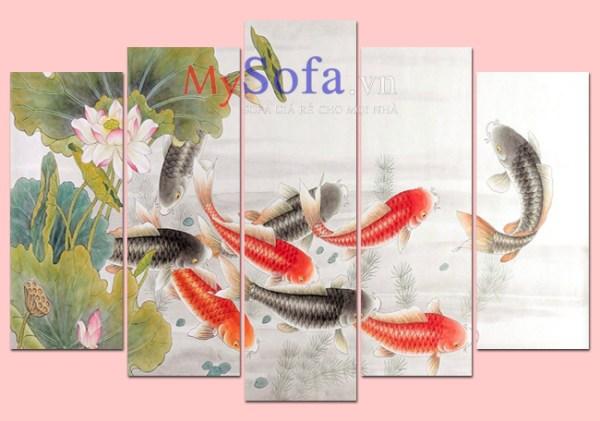Tranh cửu ngư quần hội đẹp và ý nghĩa AmiA 368 | mySofa.vn