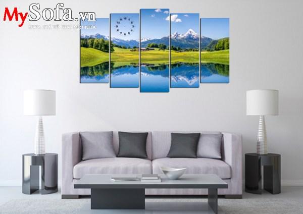 Tranh phong cảnh thiên nhiên AmiA TDH176 treo tại phòng khách