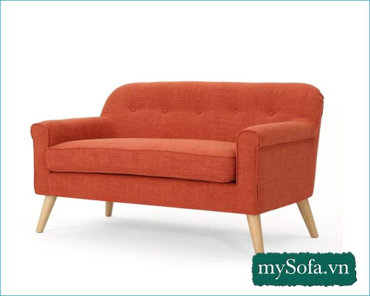 Mẫu ghế sofa nỉ mầu cam MyS-2308