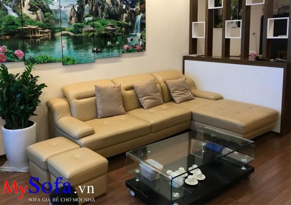 Bộ ghế Sofa da đẹp cho nhà chung cư AmiA SFD097A
