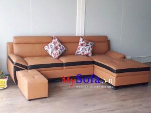 Mẫu ghế Sofa góc chữ L đẹp cho phòng khách AmiA SFD131A