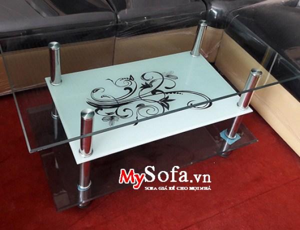 bàn sofa kính 3 tầng giá rẻ dưới 1 triệu
