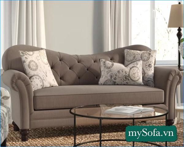 Hình ảnh Sofa nhỏ xinh đẹp dạng tân cổ điển MyS-18313