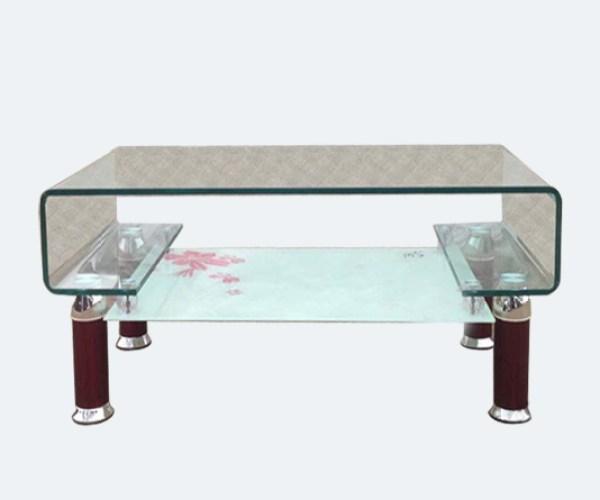mẫu bàn sofa kính cong chữ C