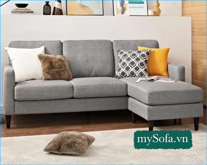 Bộ ghế Sofa nỉ đẹp dạng góc giá rẻ MyS-18675