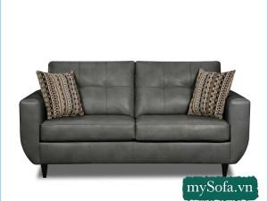 Ghế sofa da đẹp cho phòng ngủ, phòng khách nhỏ MyS-19253