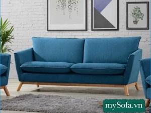 mẫu ghế sofa nhỏ xinh chân gỗ cao MyS-19331
