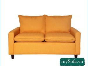 Mẫu ghế Sofa nỉ màu vàng cam trẻ trung MyS-19016