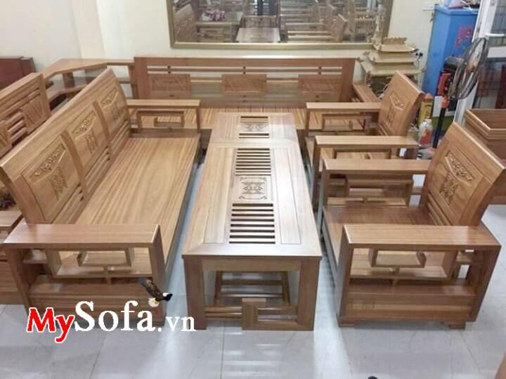 Bộ bàn ghế sofa gỗ đẹp kê phòng khách gia đình