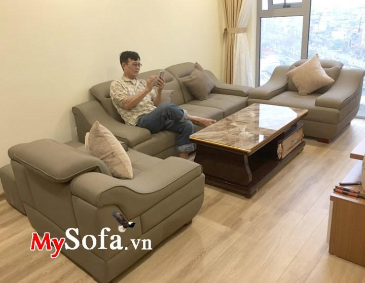 Bộ bàn ghế sofa đẹp cho phòng khách diện tích lớn