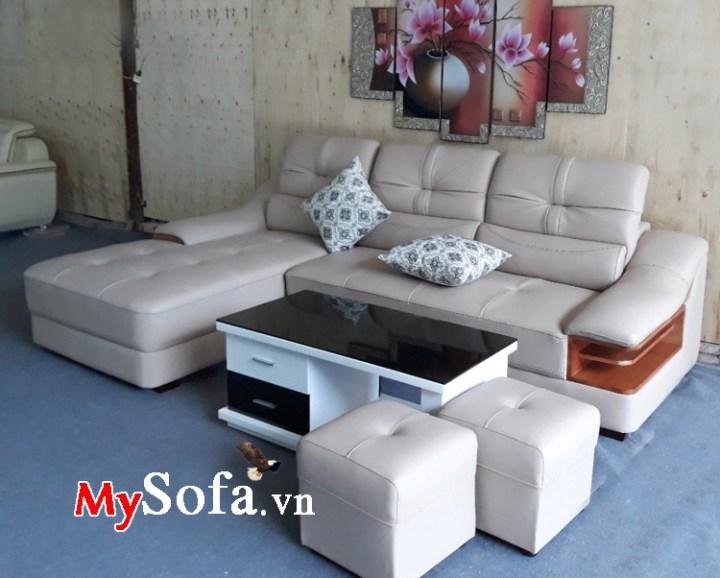 Ghế sofa góc chữ L hợp kê phòng khách gia đình