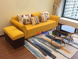 Sofa nỉ đẹp dạng ghế văng kê phòng khách
