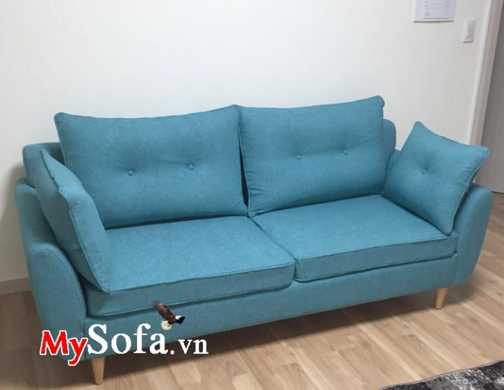 sofa nỉ đẹp kê phòng khách nhỏ