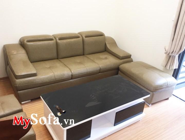 Sofa văng kê phòng khách đẹp giá rẻ chất liệu da