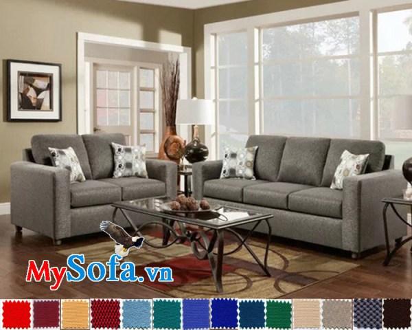 bộ ghế sofa nỉ cho phòng khách sang trọng