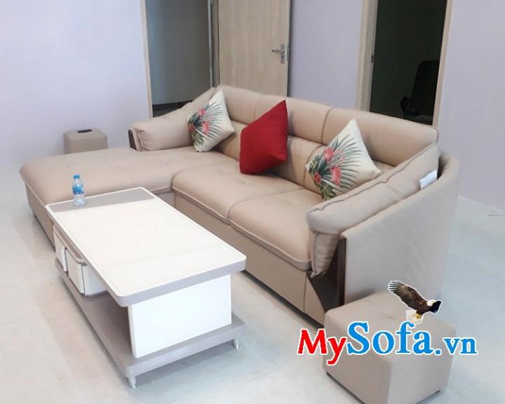 Bộ ghế sofa phòng khách chất liệu da tốt