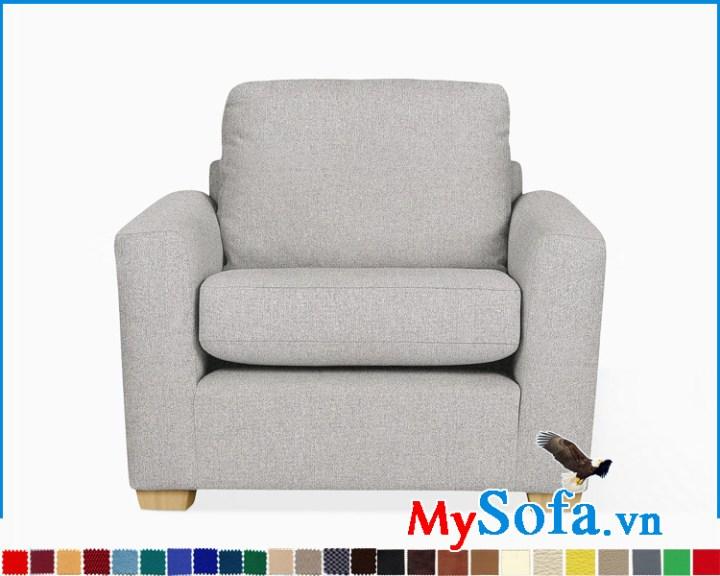 Ghế sofa đơn bọc nỉ vải giá rẻ