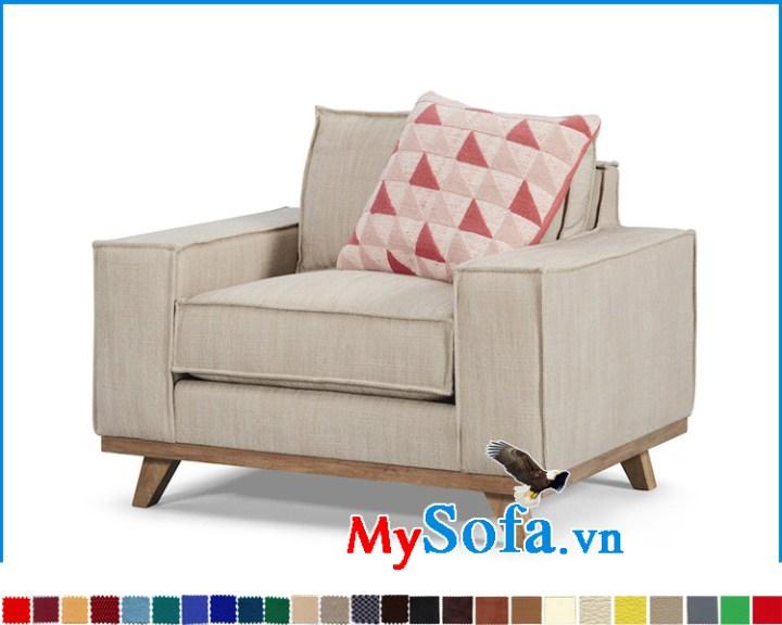 ghế sofa đơn đẹp chân gỗ tự nhiên