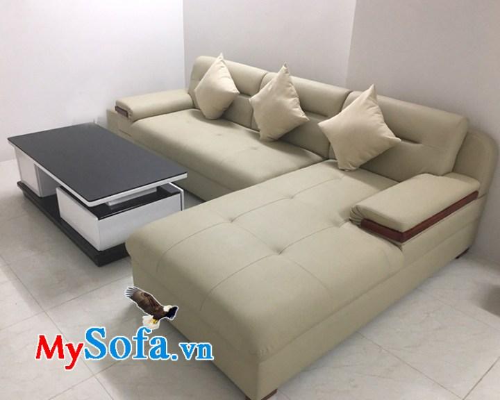 Ghế sofa góc chữ L bọc da