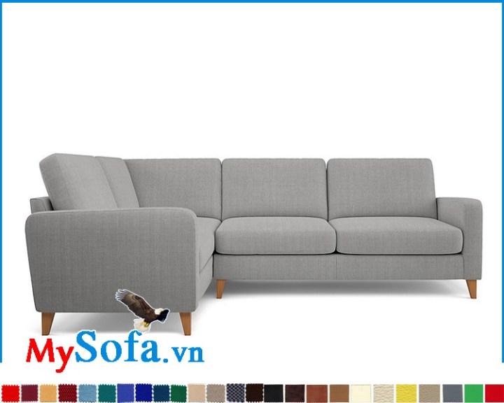 sofa nỉ màu ghi kiểu góc chữ L