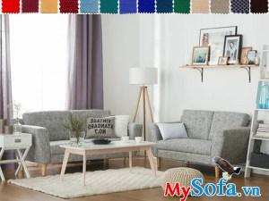 Bộ sofa nỉ đẹp cho phòng khách hiện đại