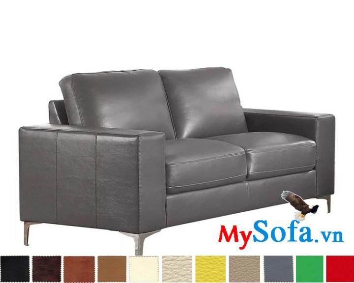 ghế sofa văng chất da đẹp cho phòng khách hiện đại