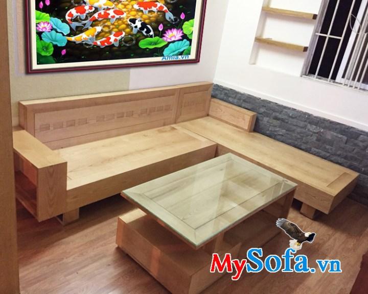 Hình ảnh mẫu ghế sofa gỗ tự nhiên đẹp