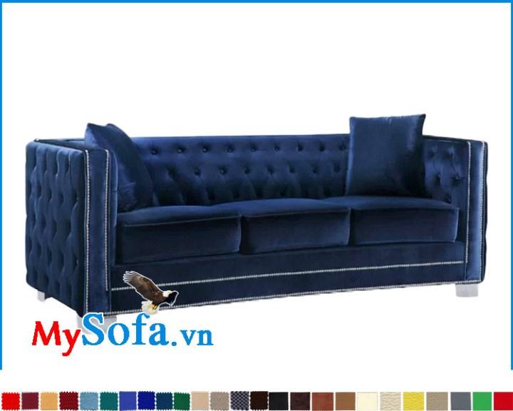 sofa đẹp màu xanh