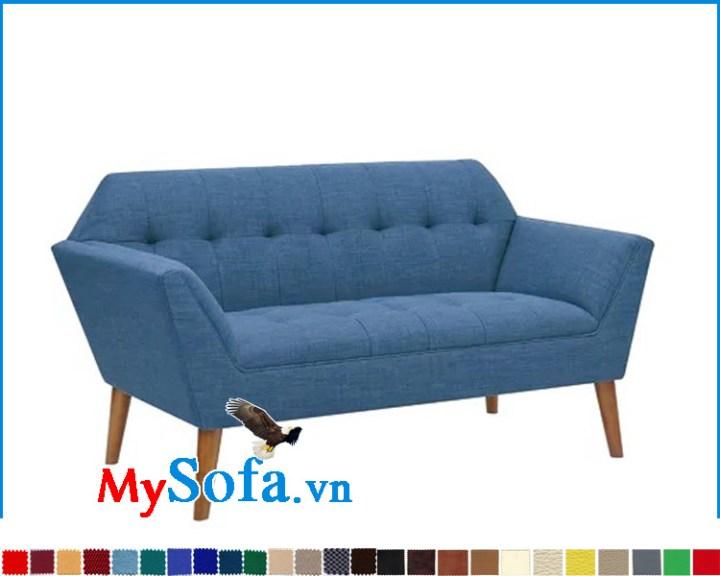 Mẫu ghế sofa đơn dài chất liệu nỉ vải