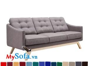MyS 0619069 dạng văng 3 chỗ ngồi là mẫu sofa vải nỉ trẻ trung