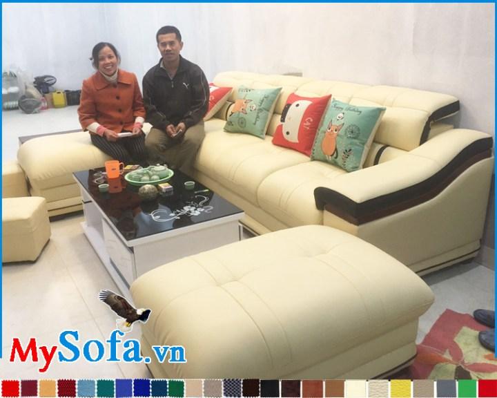 Sofa đẹp giá rẻ dạng góc L