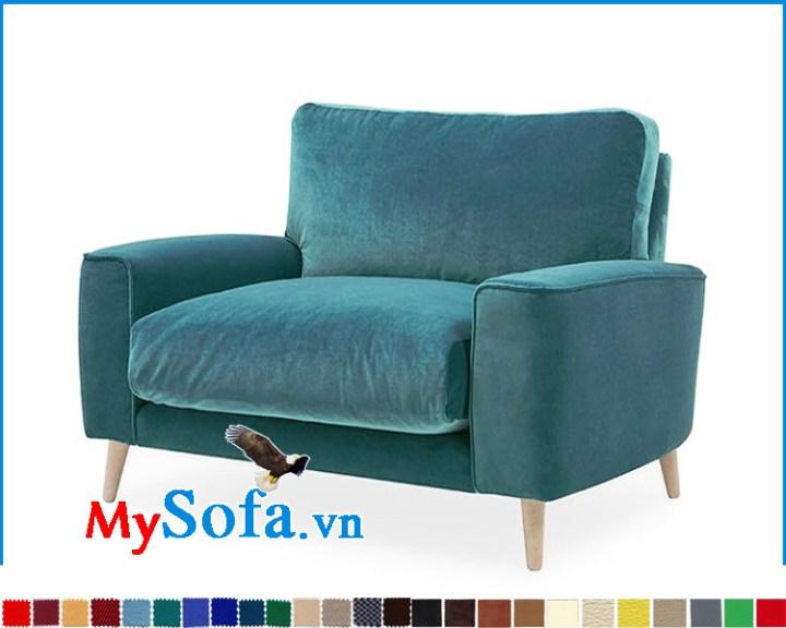 Sofa đơn đẹp màu xanh trẻ trung