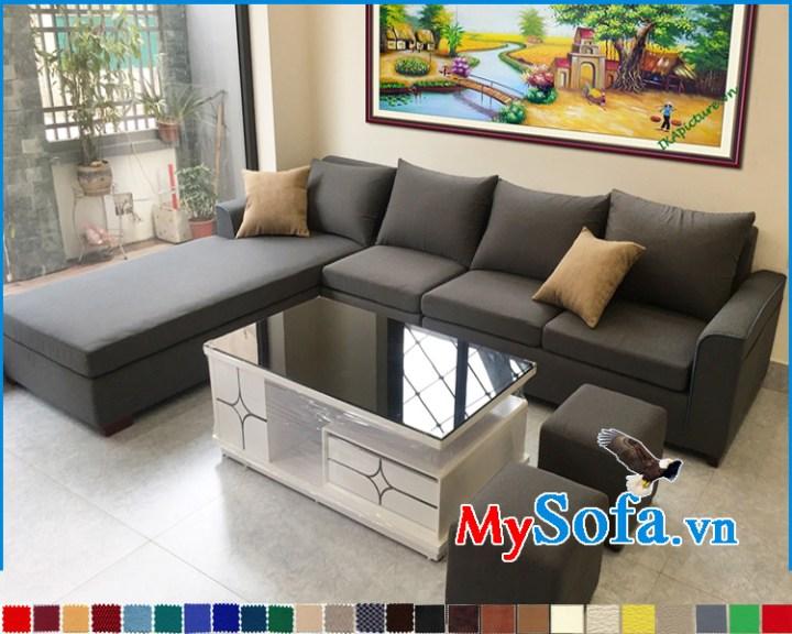 Sofa phòng khách nhà phố đẹp dạng góc