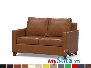 Ghế sofa văng da đẹp cho phòng khách hiện đại