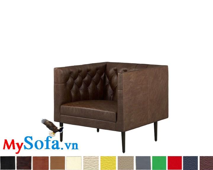 Ghế sofa da văng kiểu tân cổ điển đẹp cho phòng khách