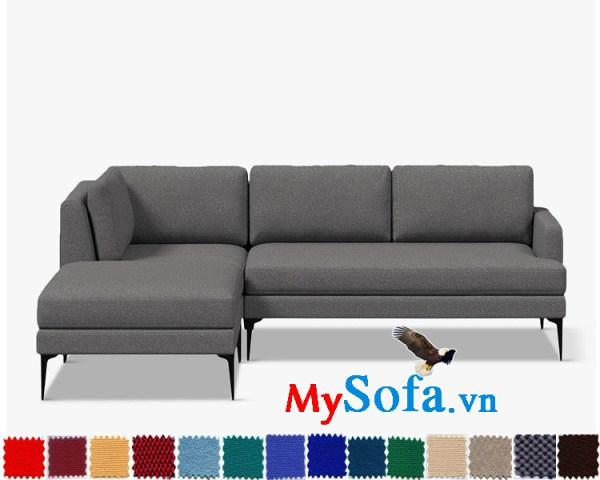 Ghế sofa nỉ dạng góc chữ L đẹp hiện đại và sang trọng