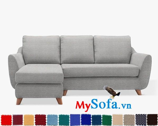 Ghế sofa góc chữ L chất nỉ đẹp hiện đại cho phòng khách