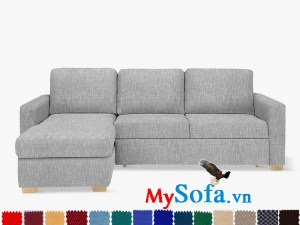 Ghế sofa nỉ dạng góc chữ L đẹp cho phòng khách sang trọng