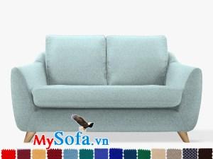 Ghế sofa nỉ dạng văng đẹp, hiện đại và trẻ trung