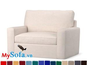 Ghế sofa nỉ dạng văng đơn cực sang trọng