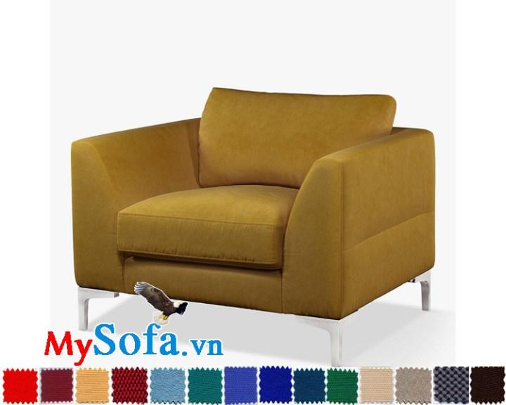 Ghế sofa nỉ kiểu văng đơn đẹp hiện đại và trẻ trung