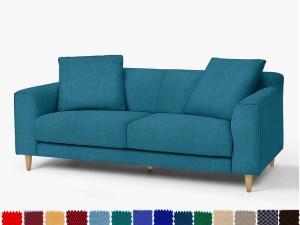 Ghế sofa văng 2 chỗ chất nỉ đẹp cho phòng khách tươi trẻ