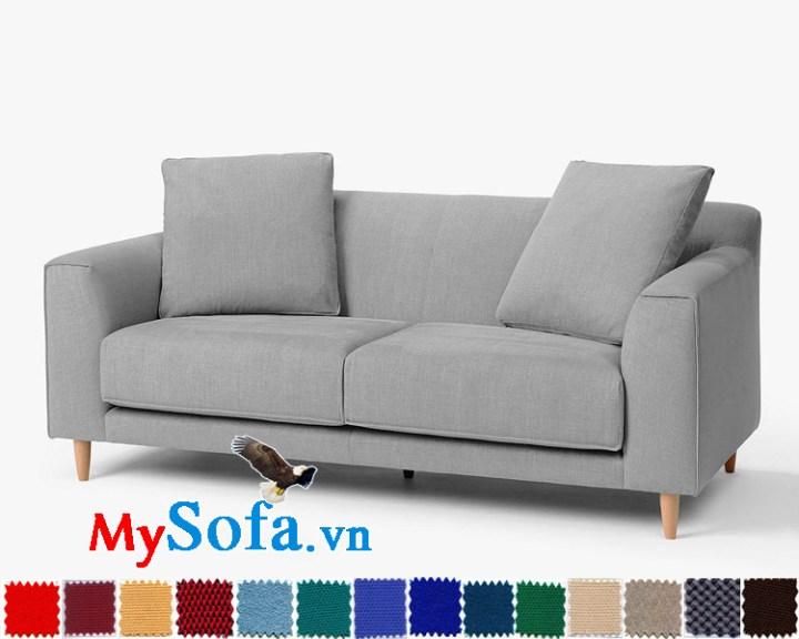Ghế sofa văng bọc nỉ đẹp, hiện đại và trẻ trung