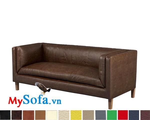 Ghế sofa văng dài chất da hiện đại và sang trọng