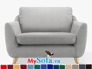 Ghế sofa nỉ dạng văng đơn sang trọng