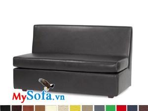 sofa ghế chờ cực đẹp mys 0619314 với nét sang trọng nhờ lớp da bọc ngoài đen bóng