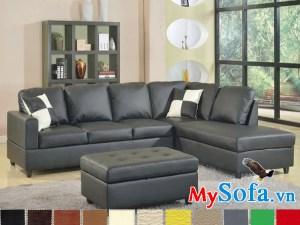sofa góc hiện đại MyS 0619209 màu sắc da bọc sang trọng