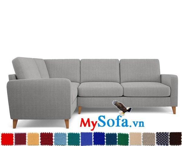 MyS 0619271 mẫu sofa góc hiện đại với thiết kế nhỏ gọn và màu sắc trung tính thanh lịch