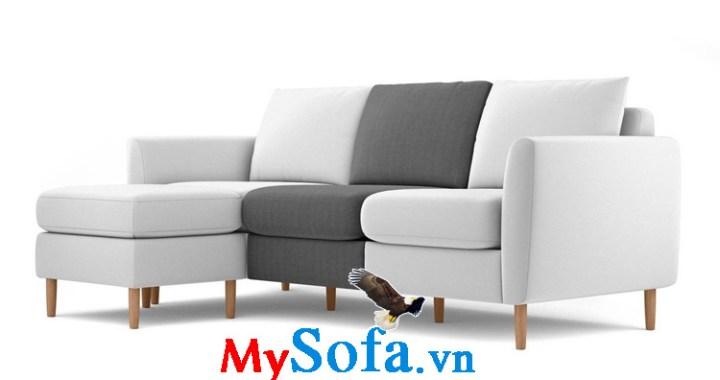 sofa góc hiện đại chất liệu nỉ mys 0619306 được thiết kế màu sắc độc đáo