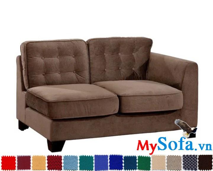 sofa văng 2 chỗ ngồi chất nỉ nhung cực êm ái mys 0619345